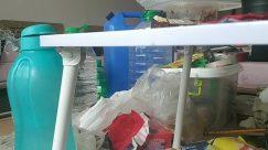 Furniture, Clinic, Bottle, Monitor, Screen, Electronics, Display, Table, Shelf, Cupboard, Closet, Lab, Plastic, Appliance, Dishwasher