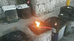 Forge, Fire, Flame, Flagstone, Box, Hearth, Food, Candle, Slate, Light