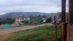 Car, Vehicle, Road, Plant, Vegetation, Tree, Motorcycle, Building, Housing, Neighborhood, Town, Landscape, Grass, kisii hghlands