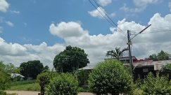 Weather, Cloud, Cumulus, Sky, Plant, Garden, Tree, Vegetation, Arbour, Building, Countryside, Shelter, Rural, Porch, Grass