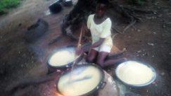 Food, Dish, Meal, Musical Instrument, Musician, Boiling, Pot, Female, Percussion, Drum, Egg, Drummer, Soil, Stew, Bowl