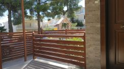 Bench, Furniture, Wood, Yard, Patio, Porch, Railing, Backyard, Hardwood, Deck, Gate, Garden, Handrail, Banister, Plywood