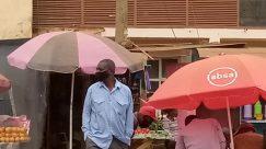 Canopy, Umbrella, Tent, Town, Building, City, Metropolis, Market, Shop, Bazaar, Countryside, Rural, Shelter, Plant, People