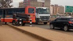 Truck, Vehicle, Car, Automobile, Wheel, Bus, Tire, Motorcycle, Trailer Truck, Road, Town, Building, City, Street, Van