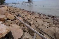 Rubble, Wood, Water, Rock, Waterfront, Slate, Dock, Pier, Port, Shoreline, Tower, Building, Ocean, Sea, Sky