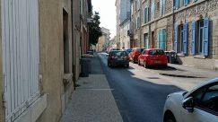 Home Decor, City, Road, Street, Town, Building, Automobile, Car, Vehicle, Window, Shutter, Curtain, Neighborhood, High Rise, Path