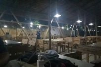 Lighting, Wood, Workshop, Restaurant, Chair, Furniture, Plywood, Building, Meal, Food, Face, Dish, Table, Interior Design, Housing